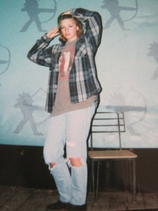 Me at thirteen. Yes, I was freakishly tall.