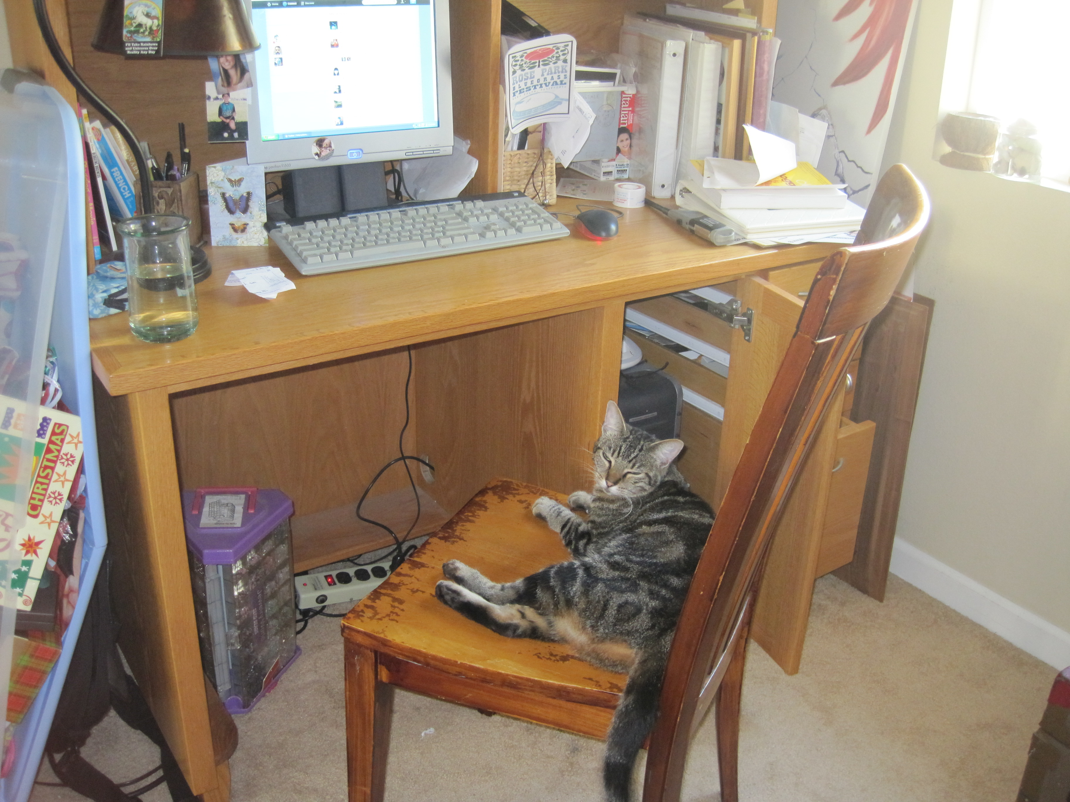 This, here, is where the magic happens. Pay no attention to the mess that is my workspace.