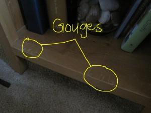 Gouges Shelf