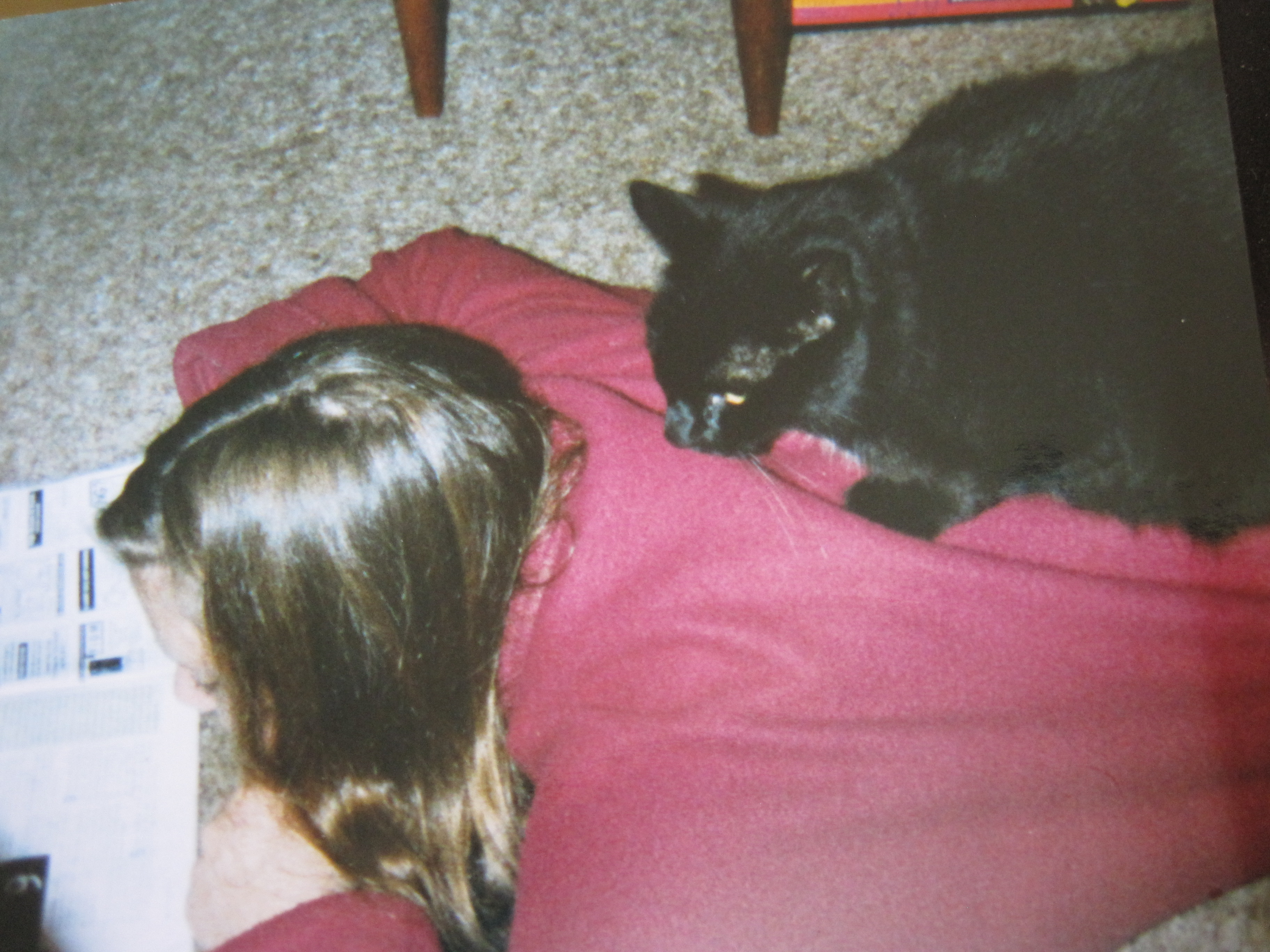 Young Me & Cat